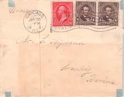 USA - LETTER 1901 CHICAGO - STRAUBING/BAVARIA - Briefe U. Dokumente