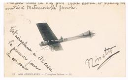 CPA : Nos Aéroplanes  - L' Aéroplane Latham - Cassé Le Jour Du Concours - ....-1914: Précurseurs
