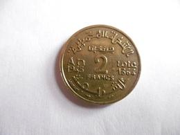 (A251)-MAROC-PIECE DE 2 FRANCS-1364/1945-EMPIRE CHERIFIEN - Maroc