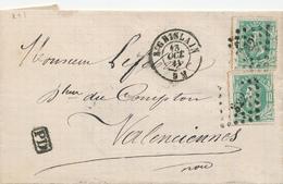 368/28 -- VIGNETTE / LABEL Charbons Leman Frères S/lettre TP 30 X 2 ST GHISLAIN 1873 - TARIF FRONTALIER 20 C - Commemorative Labels