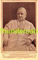 IMAGE PIEUSE SOUVENIR DU 50 EME ANNIVERSAIRE DE PIE IX 1877 - Santini
