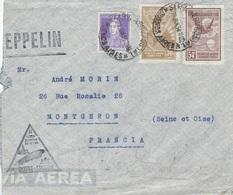 ZEPPELIN ARGENTINE-EUROPA N° 373 - 30 Juin 1934 - Buenos-Aires 29 Jun 1934 Pour Montgeron Par Friedrichshaffen - Zeppelins