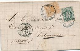 369/28 -- VIGNETTE / LABEL Charbons Leman Frères S/lettre TP 30 X 2 ST GHISLAIN 1883 - TARIF FRONTALIER 15 C - Commemorative Labels