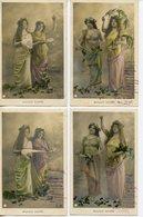 486. SERIE DE 4 CPA 1903. MUSIQUE SACREE - Fancy Cards