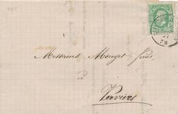 370/28 -- VIGNETTE / LABEL Grains Bougard ESTINNES AU MONT S/lettre TP 30 Double Cercle ESTINNES HAULCHIN 1877 - Commemorative Labels