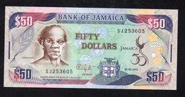 JAMAICA   GIAMAICA 50 Dollars Comm. P-89 6.8.2012 UNC - Giamaica