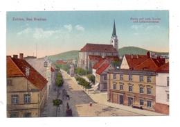 NIEDER - SCHLESIEN - ZOBTEN / SOBOTKA, Strassenpartie Mit Katholischer Kirche Und Lützowdenkmal - Schlesien