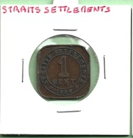 STRAITS SETTLEMENTS 1 CENT 1920 GEORGE V - Monnaies