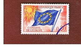 FRANCIA (FRANCE) -  SG C10     - 1965  COUNCIL OF EUROPE: FLAG 30   - USED - Service