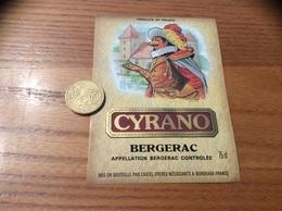 Etiquette De Vin « BERGERAC - CYRANO - CASTEL FRÈRES - BORDEAUX (33)» - Bergerac