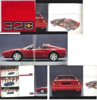 Belle Brochure Ferrari 328     1985 - Publicidad