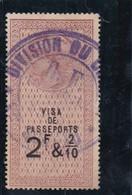 T.F. Taxe Sur Les Passeports N°1 - Fiscaux