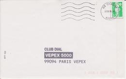 Lettre 1996 Oblitération Machine AEM MEGRAS 02 CHAUNY AISNE Sans Pont Sur Briat 2,70 PNU - Poststempel (Briefe)