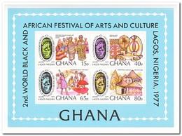 Ghana 1977, Postfris MNH, 2nd Festival Of Black African Art And Culture ( Backside A Little Black From Stampbook ) - Ghana (1957-...)