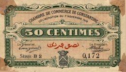 827-2019     REGION ECONOMIQUE DE CONSTANTINE  1 MAI 1916  50 CENTIMES - Chambre De Commerce