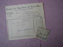 Blois 1926 Syndicat Des Agriculteurs Du Loir Et Cher 11 Rue Franciade TBE - Agriculture