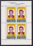 SENEGAL BLOC N°    2 ** MNH Neuf Sans Charnière, TB (CLR439) Anniversaire De La Mort Du Président John F. Kennedy -1964 - Senegal (1960-...)