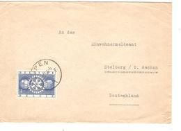 PR6255/ TP 954 Rotary Inter. S/L.c.Eupen 1954 V.Deutschland - Covers & Documents