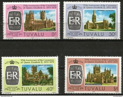 Tuvalu  - 1978 Coronation Anniversary Set Of 4  MNH **   Sc 81-4 - Tuvalu
