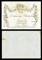 """Etiquette Bouteille De Vin MORGON 1997 - Offerte Par """" Le Dépannage Christophe """" - Spéciale: AN 2000  (4464) - Publicité"""