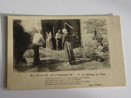 CORREZE-AU PAYS DE LA CHABRETTE -67-LE BATTAGE AU FLEAU -ANIMEE - Other Municipalities