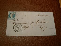 D303/ NAPOLEON N° 14 SUR LETTRE - 1853-1860 Napoléon III