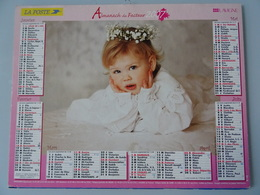 Almanach Du Facteur 2007 Recto  Petite Filleverso  Bebe Dans Un Berceau - Calendriers
