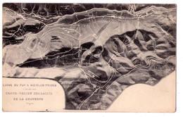 4010 -  ( 63 ) - Ligne Du Puy à Niègles--Prades - Carte Relief Des Lacets De La Gravenne - - France