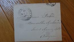 Enveloppe Depot De Blesses N°2  Chambery  13eme BCP Rue Paul Bert - 1914-18