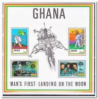 Ghana 1970, Postfris MNH, First Man On The Moon - Ghana (1957-...)