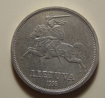 Lithuania 5 Litai 1936 Silver - Lituanie