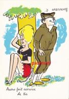 Illustrateur LASSALVY - Homme Heureux - Avons Fait Exercice De Tir  (voir Scan). - Lassalvy