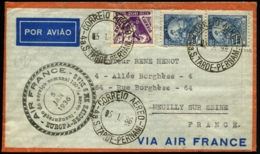 BRESIL - Vol AIR FRANCE AMERIQUE DU SUD/EUROPE - S.TARDE PERNAM 5/1/36 Pour NEUILLY - C.S - TB - Poste Aérienne