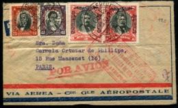 CHILI - 1er Vol AMERIQUE DU SUD/EUROPE/SANTIAGO 3/JUIN/1930 - C.S - TB - Chili