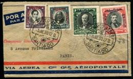 CHILI - Vol SANTIAGO/PARIS 3 JUIL 1930 - TB - Chili