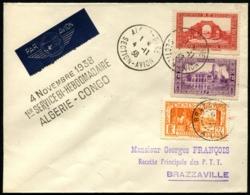 ALGERIE - 1er Service Hebdomadaire ALGERIE/CONGO 4/11/38 - C.S - TB - Algérie (1924-1962)