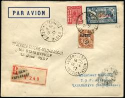 ALGERIE - 1er Service ALGERIE/MADAGASCAR 13 JUIN 1937 - C.S - TB - Algérie (1924-1962)