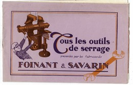 """1926 Catalogue Des Ets FOINANT & SAVARIN à Charleville """"Tous Les Outils De Serrage"""" Format 25/16 Cm 12 Pages - Vieux Papiers"""