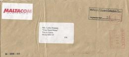 "Malta 1999 Valletta Meter Pitney Bowes-GB ""A900"" PB 97 Maltacom Telecard Domestic Registered Cover - Malta"