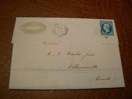 D304/ NAPOLEON N° 14 SUR LETTRE - 1853-1860 Napoléon III