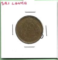 """SRI  LANKA """"""""CEYLAN"""""""" 50  CENTS 1943"""""""" GEORGE VI - Sri Lanka"""