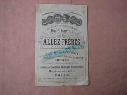 Allez Fréres Paris 1897  1 Catalogue, 1 Dépliant, 1 Bon De Commande, 1 Prospectus - Quincaillerie, Jardin, Bronze, Etc.. - France