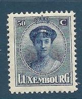 Timbres Neuf* Du Luxembourg, N°129 Yt, Grande Duchesse Charlotte - 1921-27 Charlotte Frontansicht