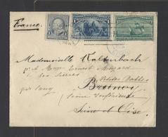 ETATS-UNIS.  Lettre Des Etats-Unis Pour Brunoy  1894 - 1861-65 Confederate States