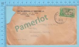 1939 - Cuba -over Print  Experimento Del Cohete - Cover Cachet- Nueva Gerona Cuba -> Sherbrooke Quebec Canada - Cuba