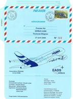 FRANCE 2005 AEROGRAMME PREMIER VOL AIRBUS A380 TOULOUSE BLAGNAC 27 04 2005  N° 023 / 100 - Ganzsachen