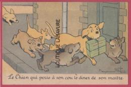ILLUSTRATEUR ---RABIER---Le Chien Qui Porte A Son Cou Le Diner De Son Maitre--Pub Chocolat Lombart - Rabier, B.