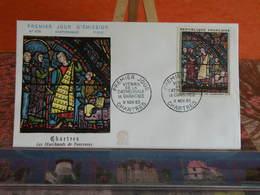 Vitrail De La Cathédrale,marchants De Fourrures - Chartres - 9.11.1963 FDC 1er Jour N°476 - Coté 18€ - 1960-1969