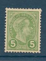 Timbres Neuf* Du Luxembourg, N°72 Yt, Grand Duc Adolphe 1er - 1895 Adolphe Right-hand Side