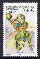 Andorra (French Adm.), Circus, EUROPA, 2002, MNH VF - French Andorra